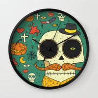 halloween Wall Clocks featuring Halloween by ari-s