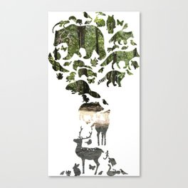 All creatures great and small Canvas Print