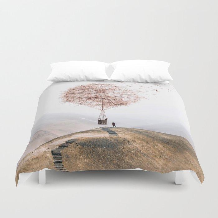 Flying Dandelion Bettbezug