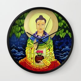 Rainbow Buddha Wall Clock