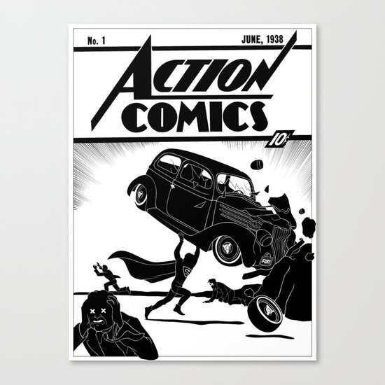 Action Comics #1 Redux Canvas Print