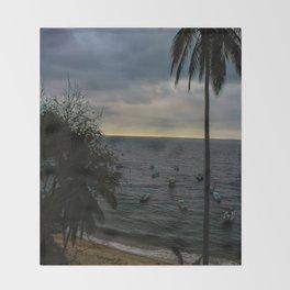 Dreamy Mexican Beach Sunset Throw Blanket