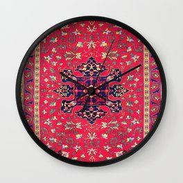 Star Ushak Replica Turkish Rug Print Wall Clock