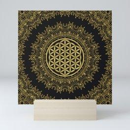 Flower Of Life Mandala Mini Art Print