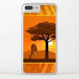 Africa Romantic Clear iPhone Case