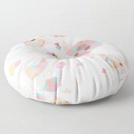 Terrazzo Crystals I. Floor Pillow