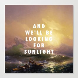 Ivan Aivazovsky, The Ninth Wave (1850) / Halsey, Roman Holiday (2015) Canvas Print