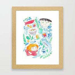 The Goldfish Girl Framed Art Print