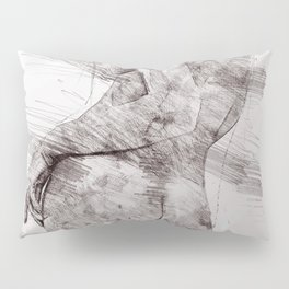 Nude woman pencil drawing Pillow Sham