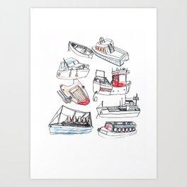 Boat Print Art Print