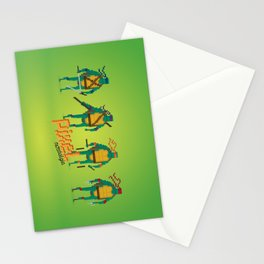 Ninja Turtles - Pixel Nostalgia Stationery Cards
