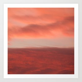 Orange Clouds InThe Sky #decor #society6 #homedecor #buyart Art Print