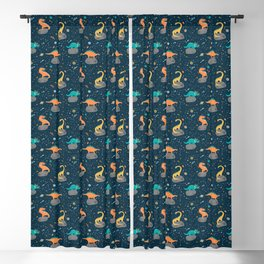 Dinosaurs Floating on an Asteroid Blackout Curtain