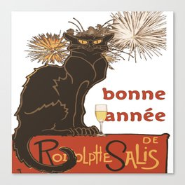 Bonne Annee Happy New Year Parody Canvas Print