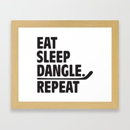 Eat Sleep Dangle Repeat Framed Art Print