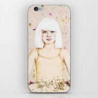 sia iPhone & iPod Skins featuring Crystal Heart, Glitter Mind by anna hammer