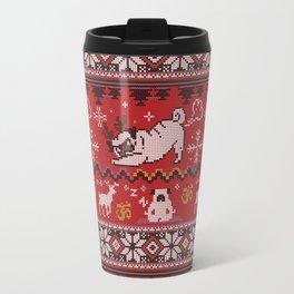 Pugly Yoga X-Mas Travel Mug