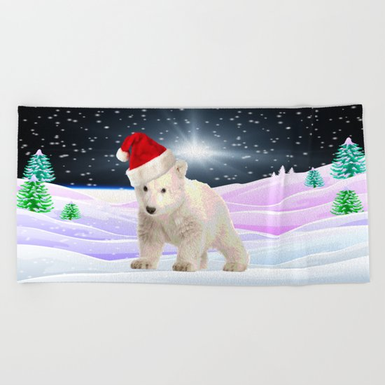 Save My Home   Christmas Spirit Beach Towel