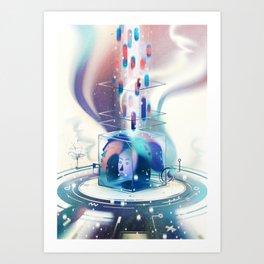 The link Art Print