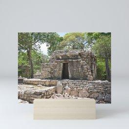 Xel-Ha Reserva Natural Mexico Mexican Archaeology Mayan Temple Maya Architecture Historical Jungle Mini Art Print