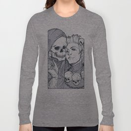 sterek - background- necromancer and paladin Long Sleeve T-shirt
