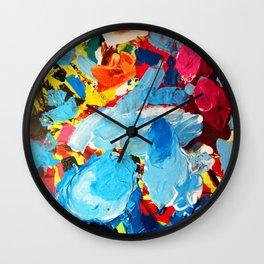 Painters' Splatter Wall Clock