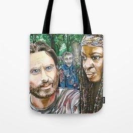 Richonne and 3 random zombies Tote Bag