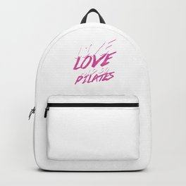 Contrology Fitness Balancing Meditate Relaxation Muscle Exercises Healthy Living Gift Live Love And Backpack