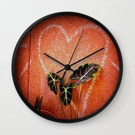 Concrete Jungle Love Wall Clock