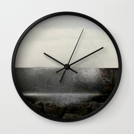 The ocean behind the wall Wall Clock