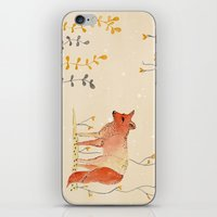 howl iPhone & iPod Skins featuring HOWL by MEERA LEE PATEL
