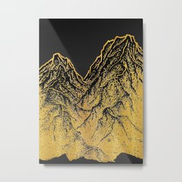 "遠望 series -""Gold Valley"" - Linocut Metal Print"