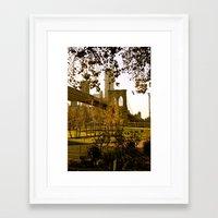 cosima Framed Art Prints featuring BKLYN Bridge by Cosima Higham