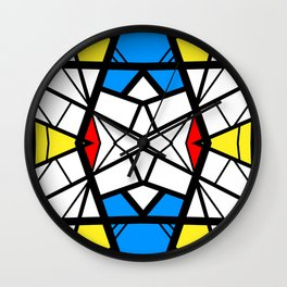 Shattered - geometric graphic design Wall Clock