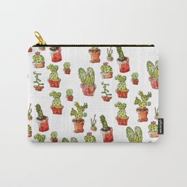 Cacti on white Carry-All Pouch
