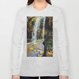 Grotto Falls Smoky Mountains Long Sleeve T-shirt