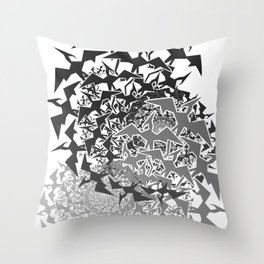 Fractyl Pterodactyl Swarms Throw Pillow