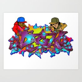 Digital Graffiti Kings Art Print