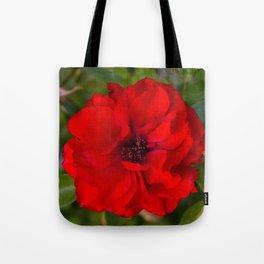 Vibrant Red Flower Tote Bag