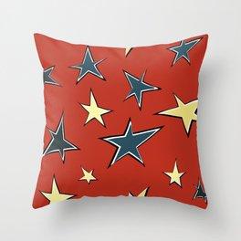 Christmas stars 3 Throw Pillow
