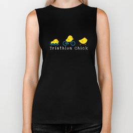 Funny Triathlon Chick Triathlete  Biker Tank