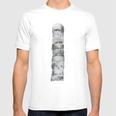 Totem Poll White Mens Fitted Tee MEDIUM