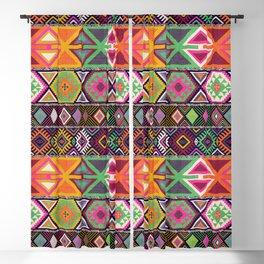 Aztec Artisan Tribal Bright Blackout Curtain