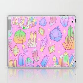 Pastel Goth Crystal Cluster Pattern Pink & Blue Laptop & iPad Skin