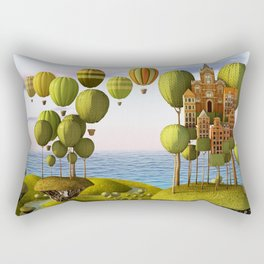 City in the Sky_Lanscape Format Rectangular Pillow