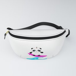 Surfing Pandacorn Fanny Pack