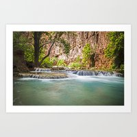 Beaver Falls Grand Canyon Havasu Region Art Print