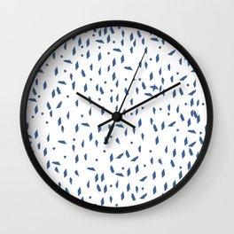Navy blue terrazzo Wall Clock