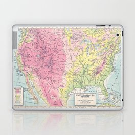 Physical Map of the United States Laptop & iPad Skin