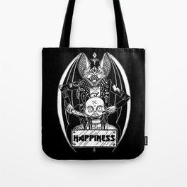 HAPPINESS (horror bat) Tote Bag